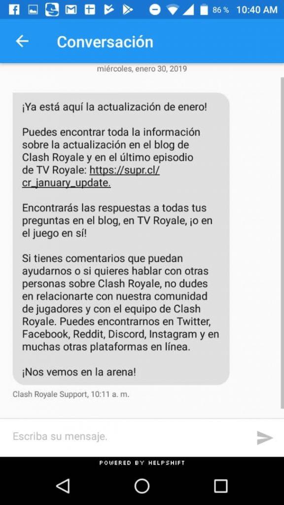 explicar problema clash royale