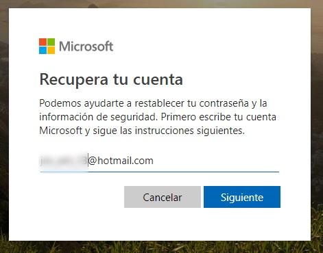 identifica tu usuario hotmail