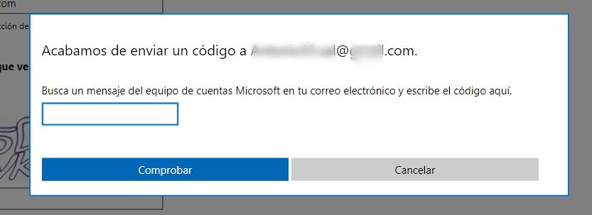 código de seguridad hotmail
