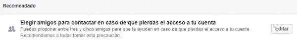 quiero recuperar mi facebook
