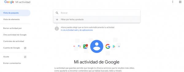 restaurar historial de google