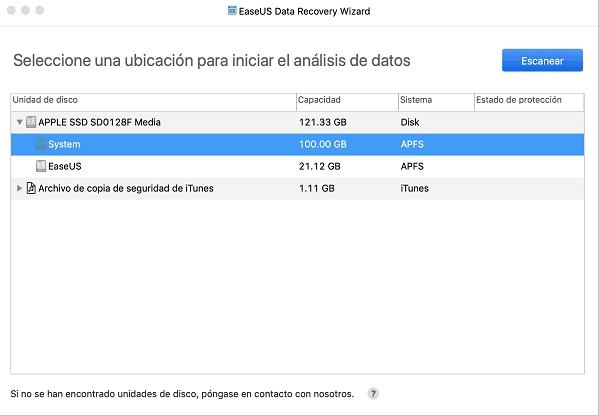 EaseUS Data Recovery Wizard para Mac
