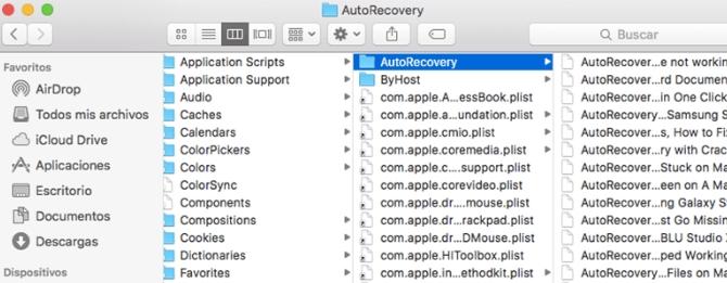 Función autorrecuperación en Mac