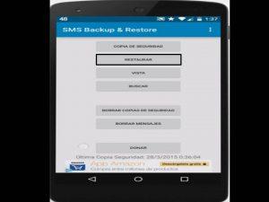 usar sms backup