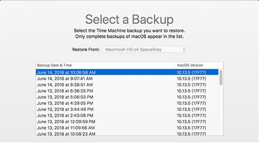 copia de seguridad para restaurar historial