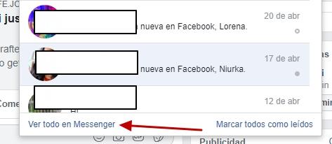 ver todo en messenger facebook